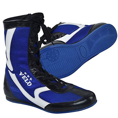 VELO. Zapatos de boxeo de cuero para deportes de lucha de entrenamiento...