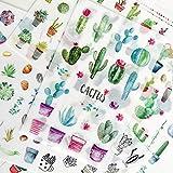 PMSMT 6 Hojas/Set Enamórate de Plantas de Cactus Pegatinas de PVC Scrapbooking DIYpapelería Pegatinas japonesas