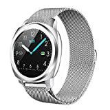 BAIZE Smart Watch, Bluetooth Smartwatches with Heart Rate Monitor Blood Pressure Activity Tracker Watch, Waterproof Fitness Tracker with Sleep Tracker Step Counter for Women and Men (Silver)