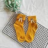 Calcetines de Invierno Abejas Montones de Calcetines de Curling Calcetines de algodón Cinta Japonesa otoño e Invierno Calcetines cómodos y Transpirables. (Color : Yellow, Size : One Size)