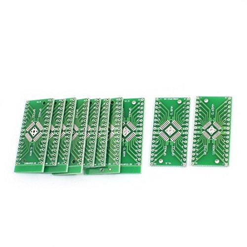 sourcing map 10 stück SMD QFN32 QFP32 0.8mm 0.65mm DIP32 PCB Adapter/konverter Teller DE de