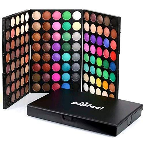 Paleta de Maquiagem Corretivo Sombras 120 Cores Uso Pessoal e Profissional Fosco Luminoso Brilho Radiante Cintilante Natural À Prova D'água