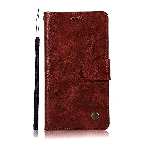 Sunrive Hülle Für Lenovo Moto G4 Play, Magnetisch Schaltfläche Ledertasche Schutzhülle Etui Leder Hülle Cover Handyhülle Schalen Handy Tasche Lederhülle(N-Hellbraun)+Gratis Eingabestift