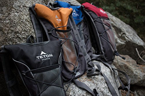 TETON Sports TrailRunner 2.0 Hydration Pack; Backpack for Hiking, Running and Cycling; Free 2-Liter Hydration Bladder; Red