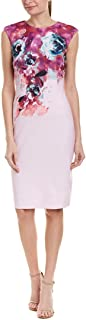 Tahari by Arthur S. Levine Women's Sleeveless Scuba Crepe Dress