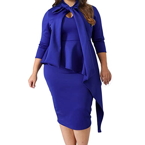 Plus Size Peplum Dress: Amazon.com