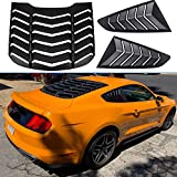 Rear and Side Window Louvers Sun Shade Cover Fit for Ford Mustang 2005-2014 Matte Black Window Visor in GT Lambo Style