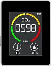CO2 Monitor, JKKJ 3 in 1 Kooldioxide Detector Temperatuur Vochtigheid Luchtkwaliteit Monitor Meter, 3,5 Inch Digitaal LCD-...