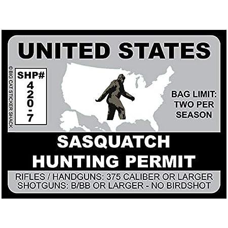 Sasquatch Hunting Permit - United States (Bumper Sticker)