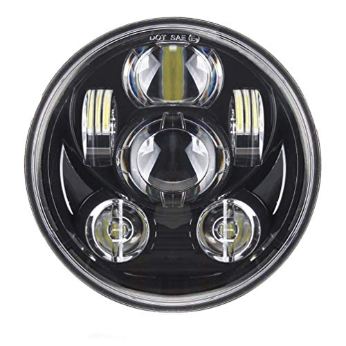 SKUNTUGUANG 5-3/4 5.75 Pouces 45W Phare à LED pour Phare Harley Davidson