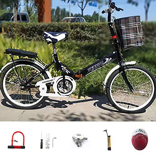 Nileco Bicicleta Plegable, 16 Pulgadas, 1 Velocidad, con Frenos Delanteros Y Traseros,...