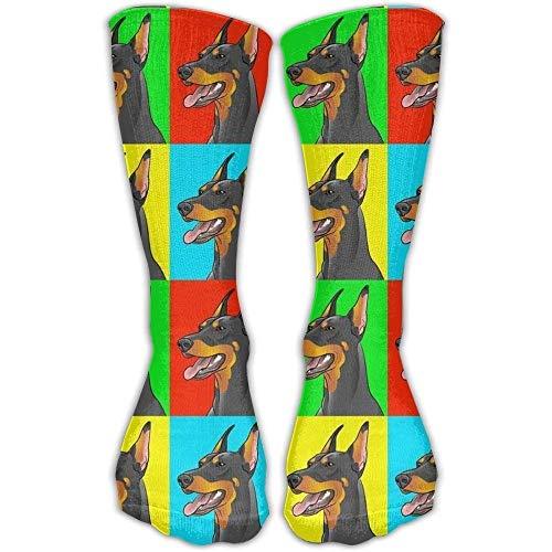 ocaohuahuaba Kompressionsstrümpfe mit Sonnenblumen-Motiv, hohe Socken, für Laufen, Reisen, Schwangerschaft, Schienbeinschienen
