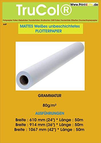 Inkjet Plotter Papier Preprint 80g/m² 24