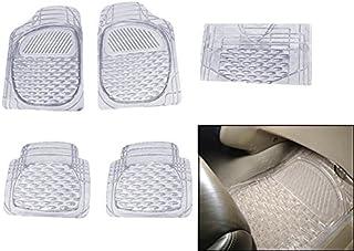 Dhe Best BE-F1 Car Ellips Bubble Floor/Foot Mats White Transparent Set of 5 for Maruti Ciaz