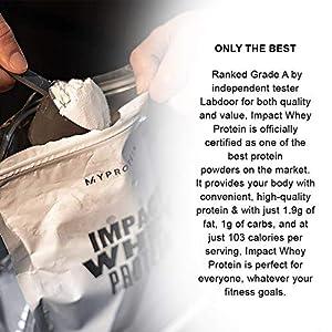 Myprotein® Impact Whey Protein Powder, Vanilla, 2.2 Lb (40 Servings)