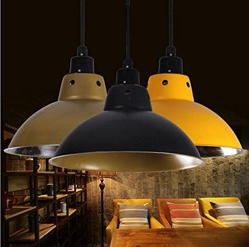 Moderna lampada pendente Acciaio inossidabile lampadari aidmo lente luce ristorante leggero vento industriale alloggiamento lampada colore Sala fitness Ristorante paralumi ,30cm retro nello stile