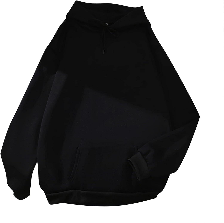 Fankle Women's Long Sleeve Hoodie Sweatshirt Colorblock Solid Color Tops Hoodies Casual Drawstring Hooded