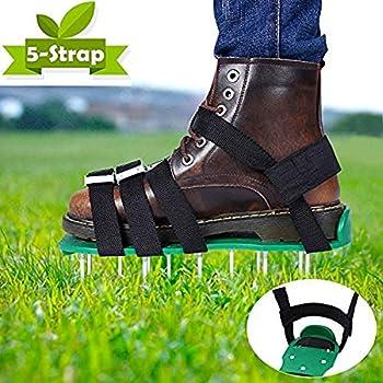 Sandales A/érateur de Pelouse 13 x 3 cm avec Pointe et Sangles Attache Facile aux Chaussures