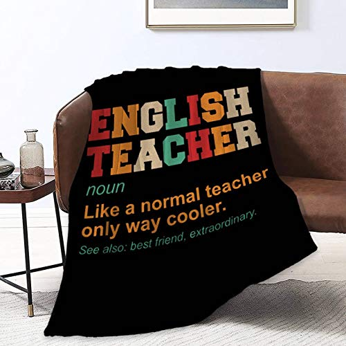 NiYoung Throw Blanket Luxury Ultra-Soft Micro Fleece Blanket for Bed, Couch, Living Room, Home, Sofa Warm English Teacher Definition Cooler Best Friend Throw Blanket