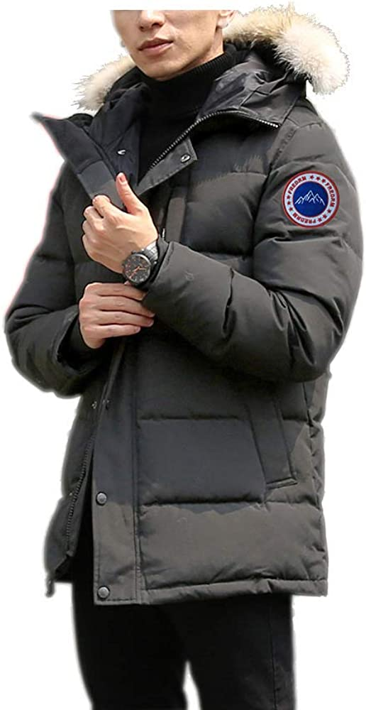 Men's Winter Coat Water-Repellent Windproof Hooded Fur Long Max 83% At the price of surprise OFF Park