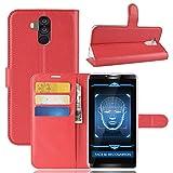 SHIEID Hülle für Oukitel K6 Hülle Brieftasche Hülle Kunstleder Handyfall Geeignet für Oukitel K6(Rot)