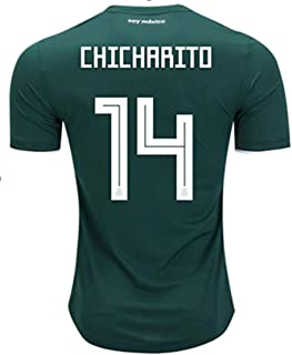 LISIMKE Mexico National Team #14 Chicharito 2018 World Cup Womens Soccer Jersey Green Football Jersey