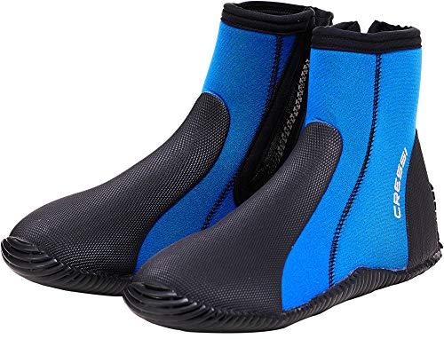 Cressi Dive Boot 5Mm Escarpines con Suela y Cremallera, Azul, XL 44/45