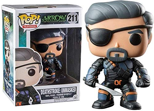 A-Generic Funko Arrow Figura # 211 Deathstroke Unmasked Pop! Multicolor