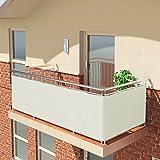 BALCONIO Balkon Sichtschutz wasserabweisend Balkonbespannung Balkonabdeckung für Balkon Terrasse aus