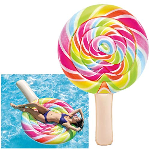 Intex 58753 - Materassino Lollipop - Stampa Realistica, Multicolore, 208 x 135 cm