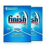 2x Finish Powerball Classic 110 Confezione lavastoviglie compresse, grande, 110 Tabs
