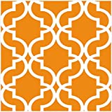 HaokHome 96027-2 - Papel pintado extraíble para pared, color naranja/blanco, 45 x 3 m