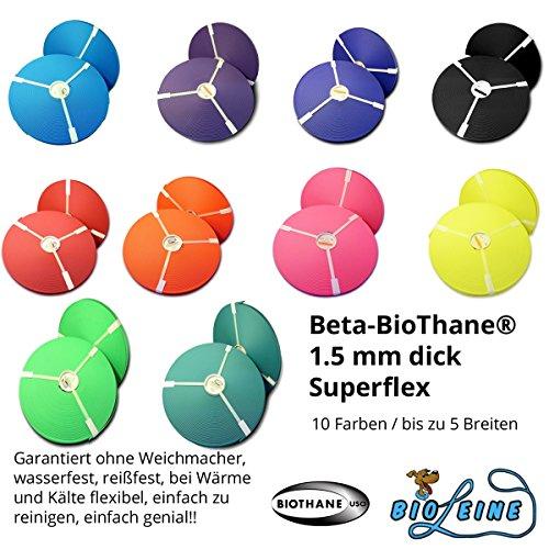 Beta BioThane® Meterware Violett (Lila) 9 mm breit und 1,5 mm (Superflex) dick [Auswahlmöglichkeit: 14 Farben und bis zu 5 Breiten]