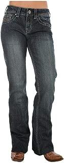 Western Denim Jeans Womens Don't Fence Me in Dark JDARKW