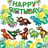 Globos de Dinosaurio Set,Dinosaurio Globo Grande,Selva Dinosaurio Globos,Globos de Dinosaurios para...