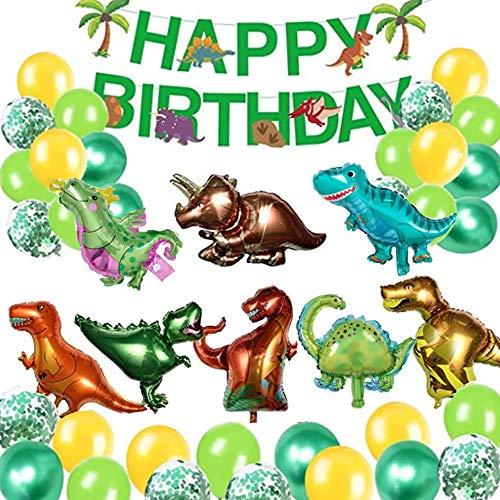 Globos de Dinosaurio Set,Dinosaurio Globo Grande,Selva Dinosaurio Globos,Globos de Dinosaurios para Cumpleaños,3D Globos de Dinosaurio,Juego de Decoración de Cumpleaños de Dinosaurio