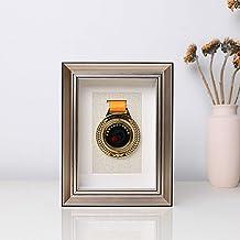 XXCC Fotolijst van hout met glas en passe-partout, diepe afbeelding voor verzamelobjecten: object, clips met foto's, bloem...