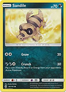 Sandile - 83/149 - Common - Pokemon Sun & Moon