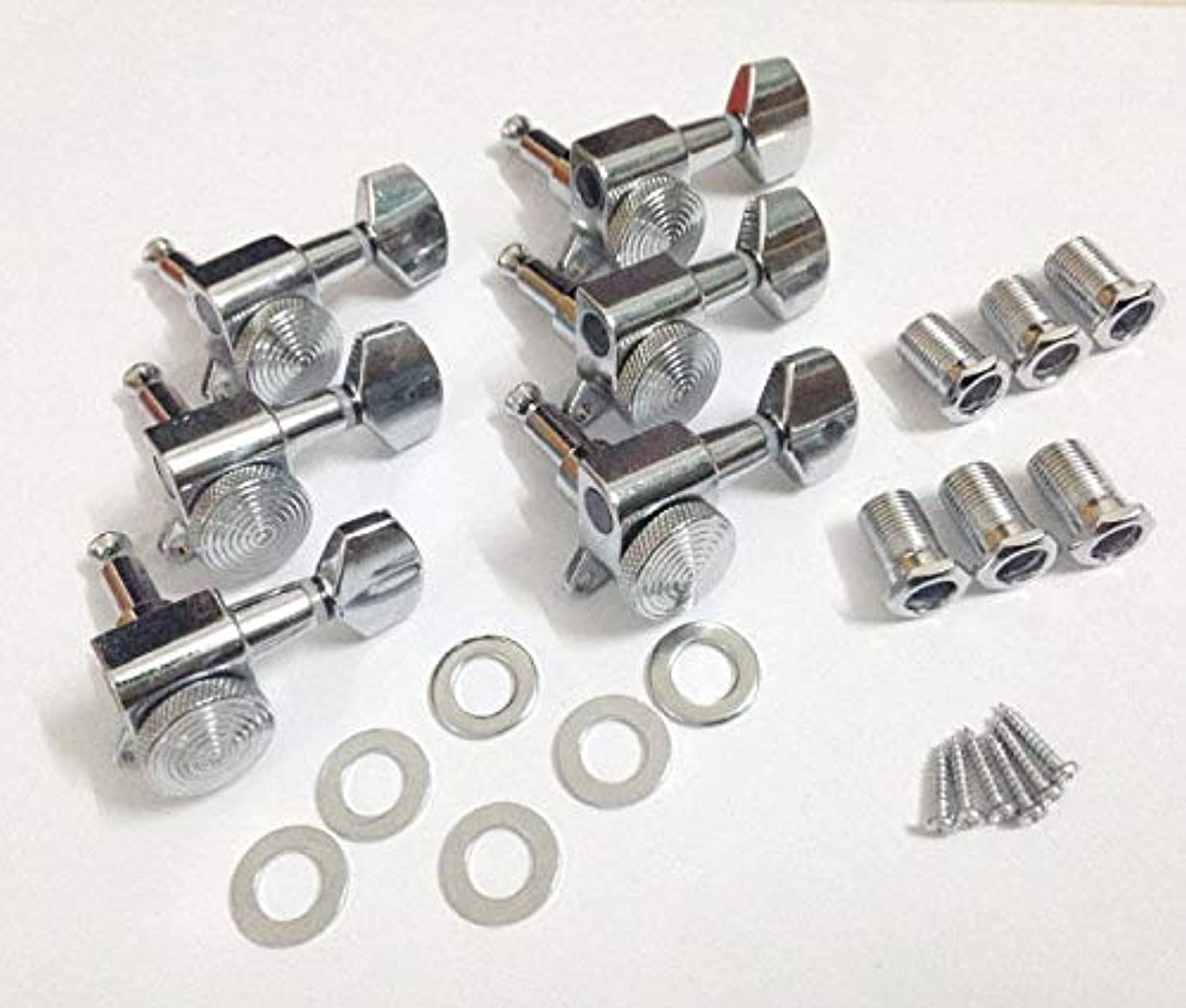 FidgetGear 1Set Chrome Locking Tuner Pegs, Fits For Fender Replacement 6R Right inline New