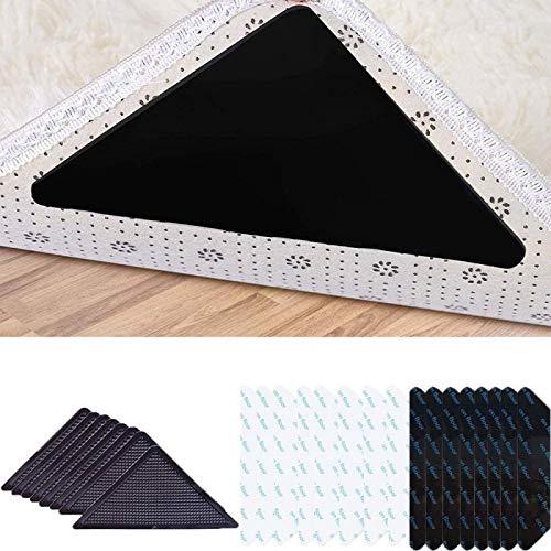 wgkgh 24 Pinzas para alfombras, Pinzas para alfombras, Almohadillas para alfombras, Lavables y Reutilizables, extraíbles y ecológicas