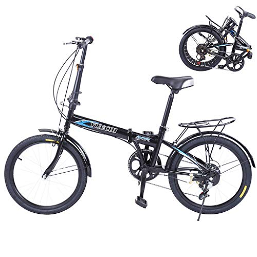 Venture Folding Bike Commuter, 20 in 7 Speed Folding Bike City Aluminum, Disc Brake