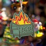 Janly Clearance Sale Adorno de Navidad 2020 con diseño de árbol de Navidad, colgante de madera para ...