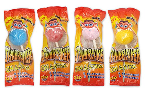 Zed Candy: Monster Jawbreaker on a Stick - Caja de 18
