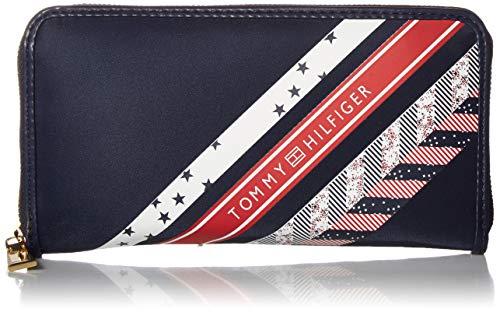 Tommy Hilfiger Julia Large Nylon Zip Wallet, Navy/Multi