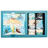 Heyu-Lotus Washi Tape Set de cajas de regalo, 10 rollos de cinta adhesiva creativa con 10 hojas de pegatinas, cintas decorativas Washi para manualidades y scrapbooking (historia de amor)
