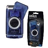 Braun M60 Washable Portable Travel Smart Foil Mens Battery Shaver - Blue