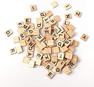 500PCS English Letters Wood Pieces Jigsaw Puzzle-5 Full Sets of 100 Letters