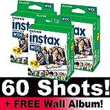 Fujifilm Instax Photo Film Wide Film Pack (60 scatti) con album fotografico