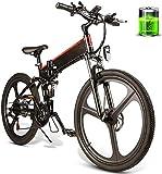 Bicicleta electrica, 26 pulgadas plegable eléctrico bicicleta asistencia de potencia eléctrica bicicleta conjunta rim scooter 48v 10ah 350w Motor Mountain E-Bike Masculino y hembra / Adulto Viaje Liti