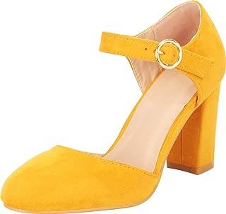 Cambridge Select Women's D'Orsay Mary Jane Chunky Block Heel Pump
